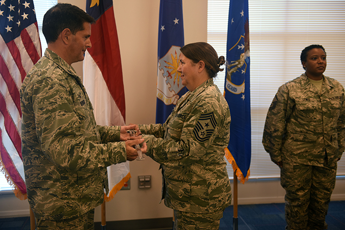 145th Airlift Wing Welcomes First Female Command Chief, Susan Dietz