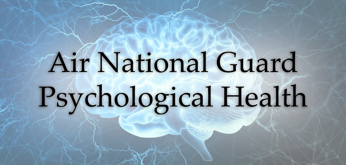 Air national Guard Psychological Health Graphic with Brain in background